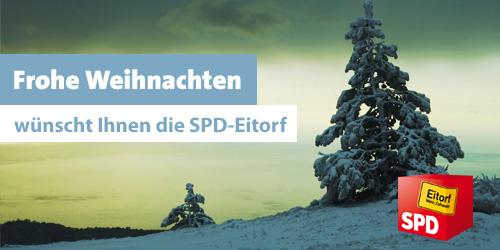 Frohne Weihnachten wünscht die SPD Eitorf