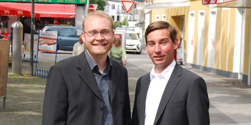 Alexander Jüdes und Sebastian Hartmann