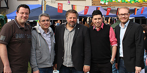 Andreas Hubert, Yahya Altin, Michael Fuchs, Zübeyir Yilmaz und Alexander Jüdes