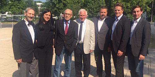 Hans-Burkhard Kuhn, Sara Zorlu, Dr. Axel Claus, Siegfried Becher, Michael Fuchs, Dirk Schlömer und Sebastian Hartmann