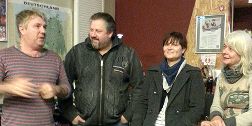 Leiter des Jugendcafés Thomas Nolden, Michael Fuchs, Claudia Kau und Ewa Wawrzyniak-Knott