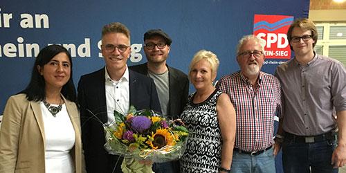 Eitorfer SPD-Delegation gratuliert Dirk Schlömer, MdL