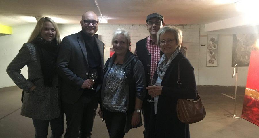 Vertreter aus Fraktion und Partei besuchten die Eröffnung im Parkhaus