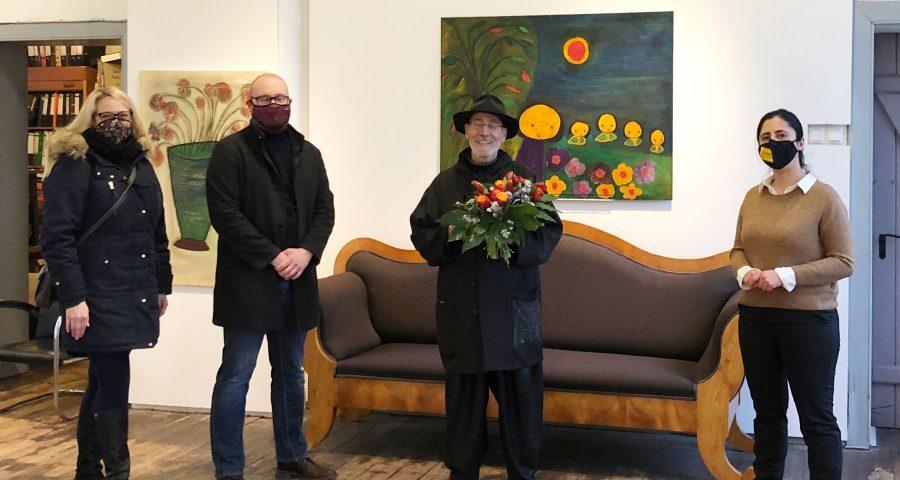 Katrin und Alexander Jüdes und Sara Zorlu gratulieren Giovanni Vetere zum Geburtstag.