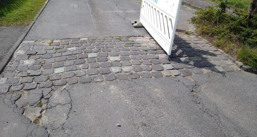 Beschädigung an der Forster Strasse